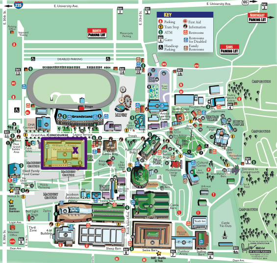 Iowa State Fair Map