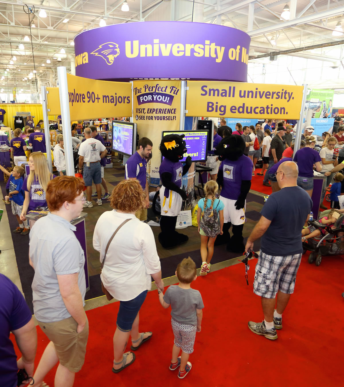 UNI booth at the Iowa State Fair